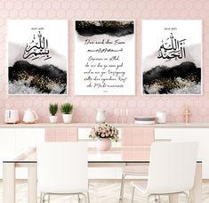 Islamische Wandbilder, start Bismillah, end alhamdulillah, Islam, islamicwallart, islamicquotes, Islamische Poster, Dua nach dem Essen, Dua von Gulartdesign auf Etsy Allah, Alhamdulillah, Islamic Quotes, Ramadan, Art Prints, Interior Design, Poster, Home Decor, Deco