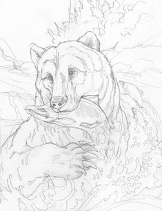 New woodworking books coloring pages ideas Animal Sketches, Animal Drawings, Art Drawings, Wood Burning Patterns, Wood Burning Art, Animal Coloring Pages, Coloring Book Pages, Bear Drawing, Motifs Animal