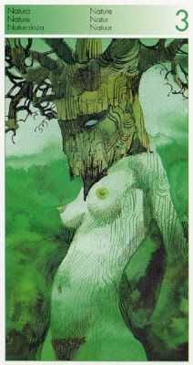 Three of Wands (Nature) - Tarot of the Origins by Sergio Toppi.