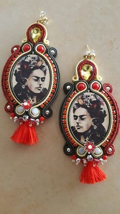 Frida Kahlo earrings by KIMA