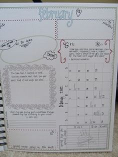 Great for an academic calendar or keeping track of monthly/daily goals at a glance.  I love this idea!