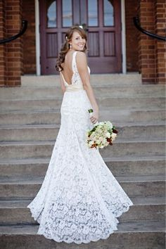 Lace and Open Back- Love! pretty