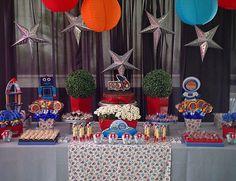 Festa personalizada com tema de Astronauta - www.clakeka.blogspot.com