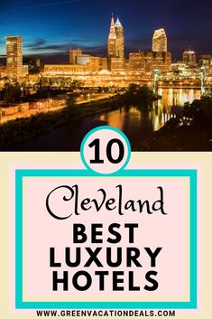 Cleveland Ohio makes for a fun travel destination. You can enjoy a visit to the Rock 'N Roll Hall of Fame (a personal favorite of mine), eat at romantic restaurants, go skydiving & more. Are you planning a trip to Cleveland? Then you definitely need to see this list to figure out where to stay! These are the 10 best luxury hotels in Cleveland. You can also find out where to book your hotel stay to save the most money. #Ohio #OhioTravel #ClevelandOhio #Cleveland #LuxuryTravel #LuxuryHotels Luxury Hotels, Luxury Travel, Ohio Weekend Getaways, Cincinnati Attractions, Cleveland Restaurants, Ohio Destinations, Romantic Restaurants, Fun Travel, Hotel Stay