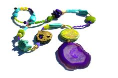 Bespoke Statement Jewellery, handcrafted in our design studio near Byron Bay in Australia. Free world-wide Shipping! Druzy Jewelry, Macrame Jewelry, Jewelry Necklaces, Bespoke Jewellery, Designer Jewellery, Handcrafted Jewelry, Unique Jewelry, Turquoise And Purple, Bohemian Necklace