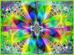 Flower of Life Fractal   Fractal Flower Art (c) Bonnie (B_jay)