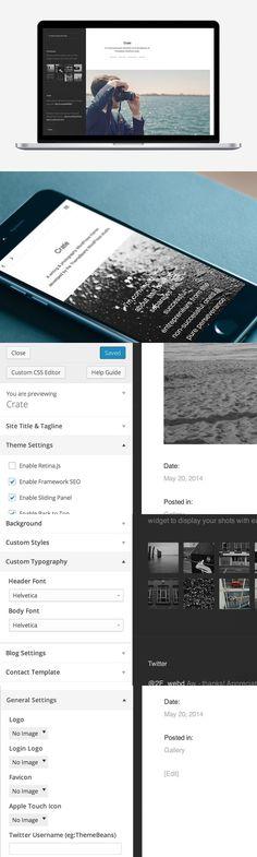 Crate WordPress Theme. WordPress Photography Themes. $69.00