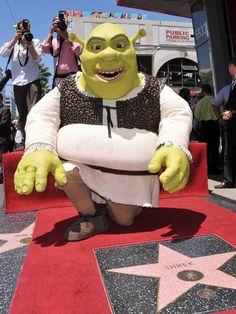 "even ""Shrek"" has a star...Hollywood Walk Of Fame"