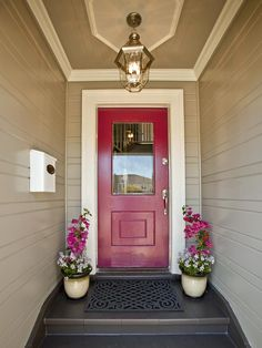 After: Warm Welcome - 15 Before-and-After Curb Appeal Makeovers on HGTV (again the paint color scheme is what I like here)