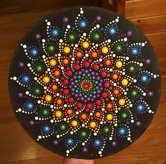 This dot mandala is one of my favorites crafting with debbie ideas камни. Mandala Canvas, Mandala Artwork, Mandala Painting, Mandala Painted Rocks, Mandala Rocks, Stone Mandala, Stone Art Painting, Dot Art Painting, Rock Painting Patterns