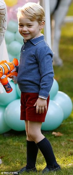 Prince George at the party today...