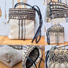 KussenvanPaula - Most Beautiful Bag Models 2019 Handmade Purses, Handmade Handbags, Fox Bag, Potli Bags, Boho Bags, Craft Bags, Denim Bag, Fabric Jewelry, Fashion Handbags