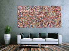 Abstraktes Acrylbild Gemälde bunt 200x100cm von xxl-art.de