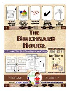 The Birchbark House Novel Unit Historical Fiction Novels