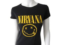 Nirvana Women's Fitted Rock Band T-Shirt