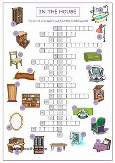 A crossword puzzle on practising/reinforcing/testing furniture vocabulary.Key included. - ESL worksheets