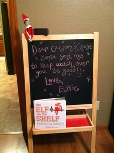 I'm so doing this for Snowflakes last night in our house, and writing the girls a good bye note :)