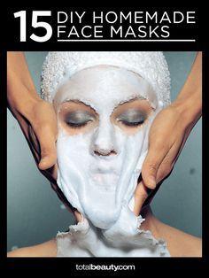DIY Homemade Face Mask Recipes Homemade Face Masks, Diy Face Mask, Diy Mask, Face Diy, Bb Beauty, Beauty Care, Natural Beauty, Natural Skin, Beauty Makeup