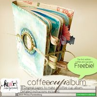 Free DigiKit - CoffeeCupAlbum: Cupcakes & Coffee By Wilna Furstenberg      Free Project!   This is a printable project! So adorable and fun to make. Each CoffeeCupAlbum comes with 6 original pages designed by Wilna. Detailed instructions, png and pdf files included.