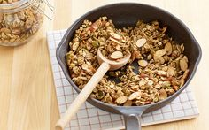Gluten-Free Skillet Almond Granola | Almond Board of California via @almonds