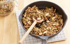 Gluten-Free Skillet Almond Granola | Almond Board of California via @almonds