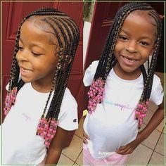 Little Girl Braid Styles, Kid Braid Styles, Little Girl Braids, Black Girl Braids, Braids For Kids, Braids For Black Hair, Girls Braids, Hair Styles, Kids Braids With Beads