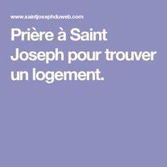 Prière à Saint Joseph pour trouver un logement.