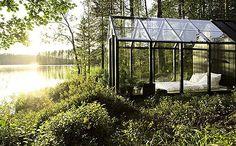Cabaña invernadero para disfrutar de las noches junto al lago | Decoesfera