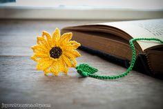 Handmade Crochet Brown Eye Susan Flower Bookmark