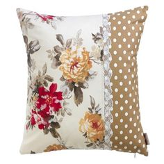 Creative Make A Pillow Or Cushion Ideas. Awe-Inspiring Make A Pillow Or Cushion Ideas. Shabby Chic Pillows, Cute Pillows, Diy Pillows, Sofa Pillows, Throw Pillows, Patchwork Cushion, Quilted Pillow, Making Fabric Flowers, Crocheted Flowers