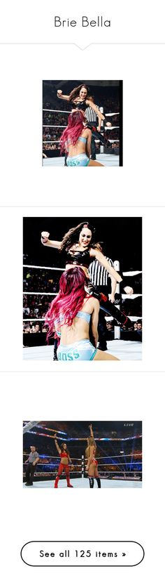 """""""Brie Bella"""" by theonewithstarsinhereyes ❤ liked on Polyvore featuring wwe, the bella twins, paige, tops, purple top, wwe divas, divas, jewelry, brooches and pin jewelry"""