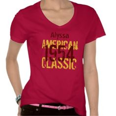 60th Birthday Gift 1954 or Year Classic Z322 Shirt $33.45 per shirt  #birthday #gift #red #tshirt #top #women