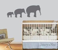 Elephant Wall Decal - Safari Jungle Children's Bedroom Nursery - Vinyl Wall Art Room Decor - CA108B. $21.50, via Etsy.