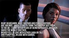 Mass Effect Headcanons : Photo  Or Jack for Male Shepard