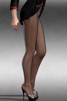 44d216f511f Black Diamond Sides Detail Stretch Fishnet Tights