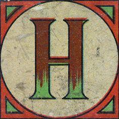 Vintage Brick Letter H | Flickr - Photo Sharing!