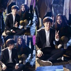"""Park Min Young Adorably Photo Bombs Yoo Seung Ho Behind the Scenes of """"Remember"""""""