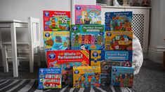 Chic Geek Diary: A Delivery From Orchard Toys - Just In Time For Ch... Little Bus, Orchard Toys, Heads And Tails, First Game, Christmas Gifts For Kids, Farm Yard, Educational Games, Matching Games, Rainbow Unicorn