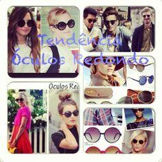Tendência Óculos Redondo! Dicas, inspirações lá no blog. Confere lá!  http://blogmarinaandrade.com/2014/01/15/tendencia-oculos-redondo/ #tendência #óculosredondo #estilo #girl&boy #blogmarinaandrade