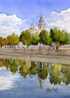 Iglesia de San Basilio y Río Genil