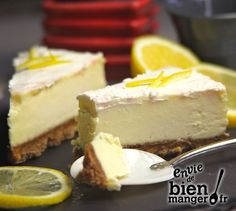 Cheesecake au citron, sans cuisson Plus kuchen ostern rezepte torten cakes desserts recipes baking baking baking Easy Cheesecake Recipes, Lemon Cheesecake, Pumpkin Cheesecake, Köstliche Desserts, Delicious Desserts, Dessert Recipes, Bowl Cake, Best Cheese, Mini Cheesecakes
