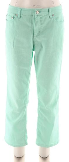 8673670c5da00 Liz Claiborne NY Iconic Jackie Colored Ankle Jeans Light Aqua 16   A261298   fashion