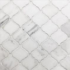 Venato Carrara Moroccan Arabesque Marble Mosaic | Kitchen & Bathroom – TileBuys