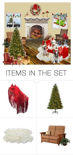 """""""Puppies First Christmas"""" by jroy1267 ❤ liked on Polyvore featuring art"""
