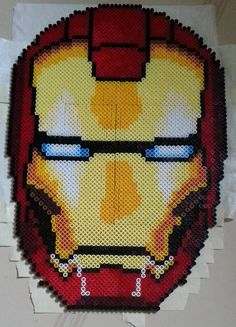 Iron Man helmet perler beads by Mcwando