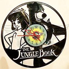 VINYL WALL CLOCK THE JUNGLE BOOK
