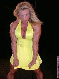 Muscular Womens Dressed: Joanna Thomas.