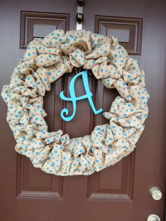 Personalized door wreath - Easter