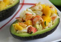 Lobster Mango Salad in Avocado Cups
