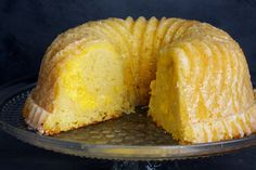 This cake is tangy, tart, moist and dense, with a bright yellow, creamy swirl of Meyer lemon curd throughout. Lemon Bundt Cake, Bundt Cakes, Pound Cake, Meyer Lemon Recipes, Lemon Desserts, Cake Recipes, Dessert Recipes, Dessert Food, Lemon Curd